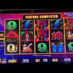 Lightning Link Tiki Fire Slot Machine $12.50 Bets Hold and Spin and Free Games Bonus Compilation